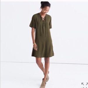 Madewell lace up dress